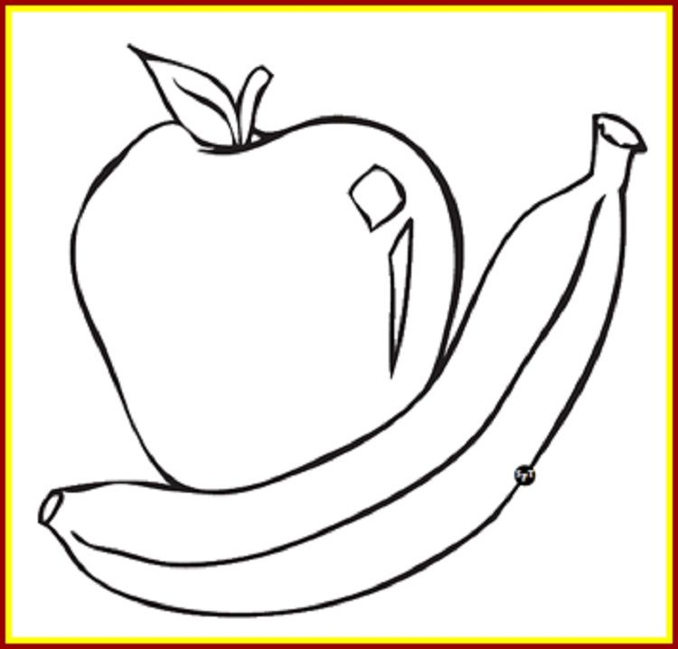Apple And Banana Coloring Page Pages For Kids Rhpinterest: Caramel Apple Coloring Pages At Baymontmadison.com