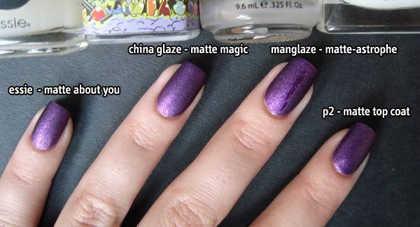 Matte Top Coats P2 China Glaze Manglaze Essie