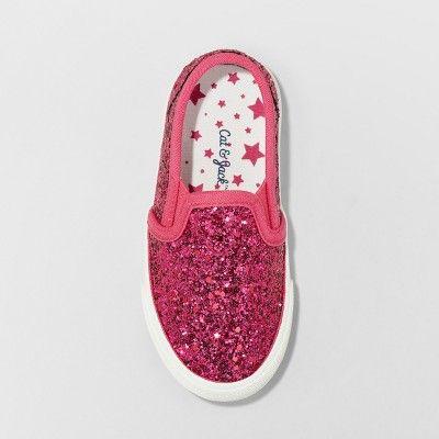 a4c660ae40749 Toddler Girls  Madigan Slip on Glitter Sneakers - Cat   Jack Fuchsia (Pink)  11