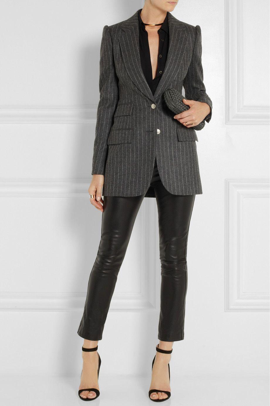 Alexander McQueen|Pinstriped wool blazer|NET-A-PORTER.COM