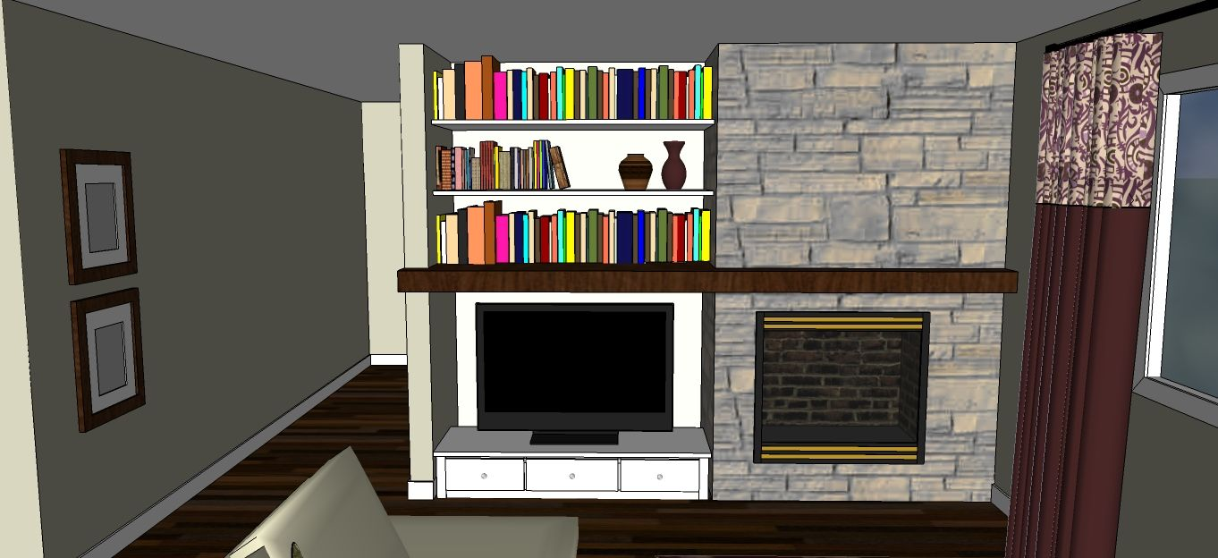 Ask Abby How To Pull Off A Side By TV Basement FireplaceFireplace IdeasFireplace