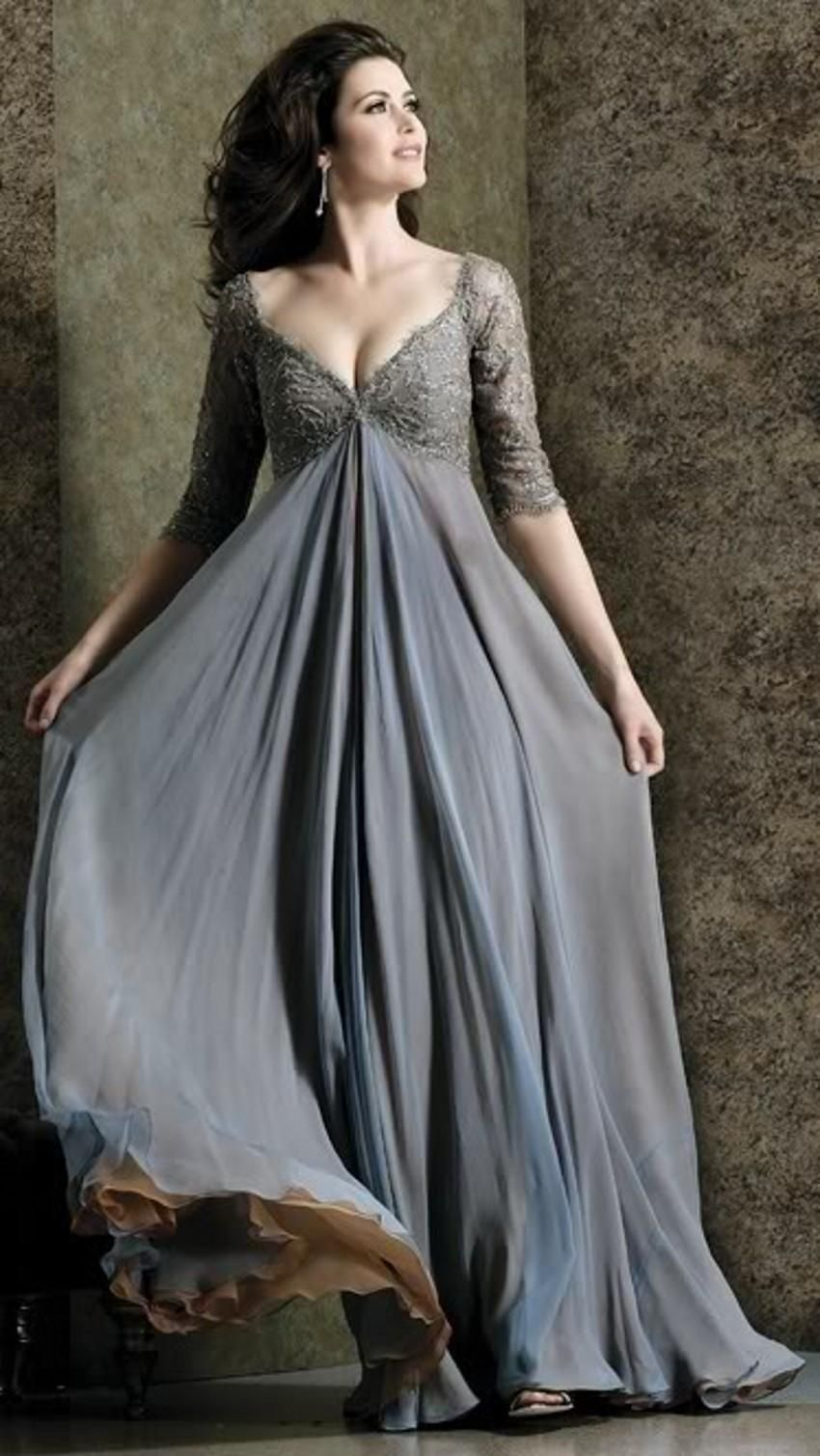 Get Elegant Appearance with Long Sleeves Evening Dresses ...