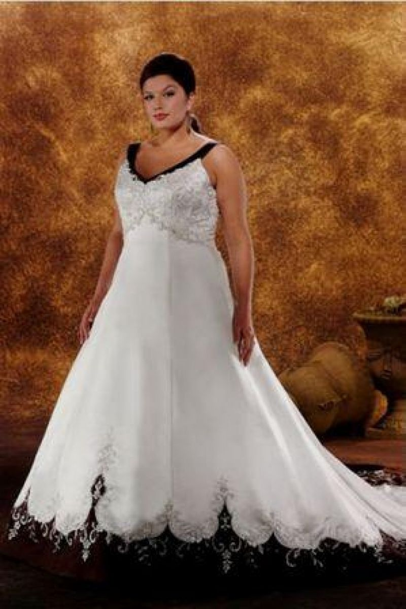Beautiful Cheap Plus Size Wedding Dresses With Color