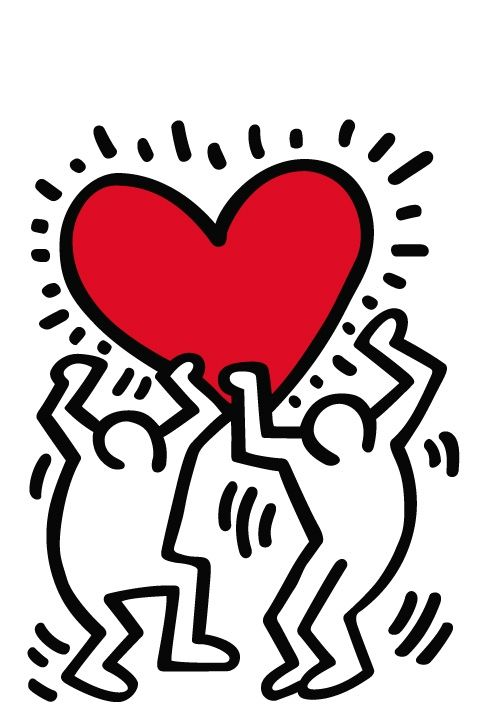 Keith Haring Art Heart