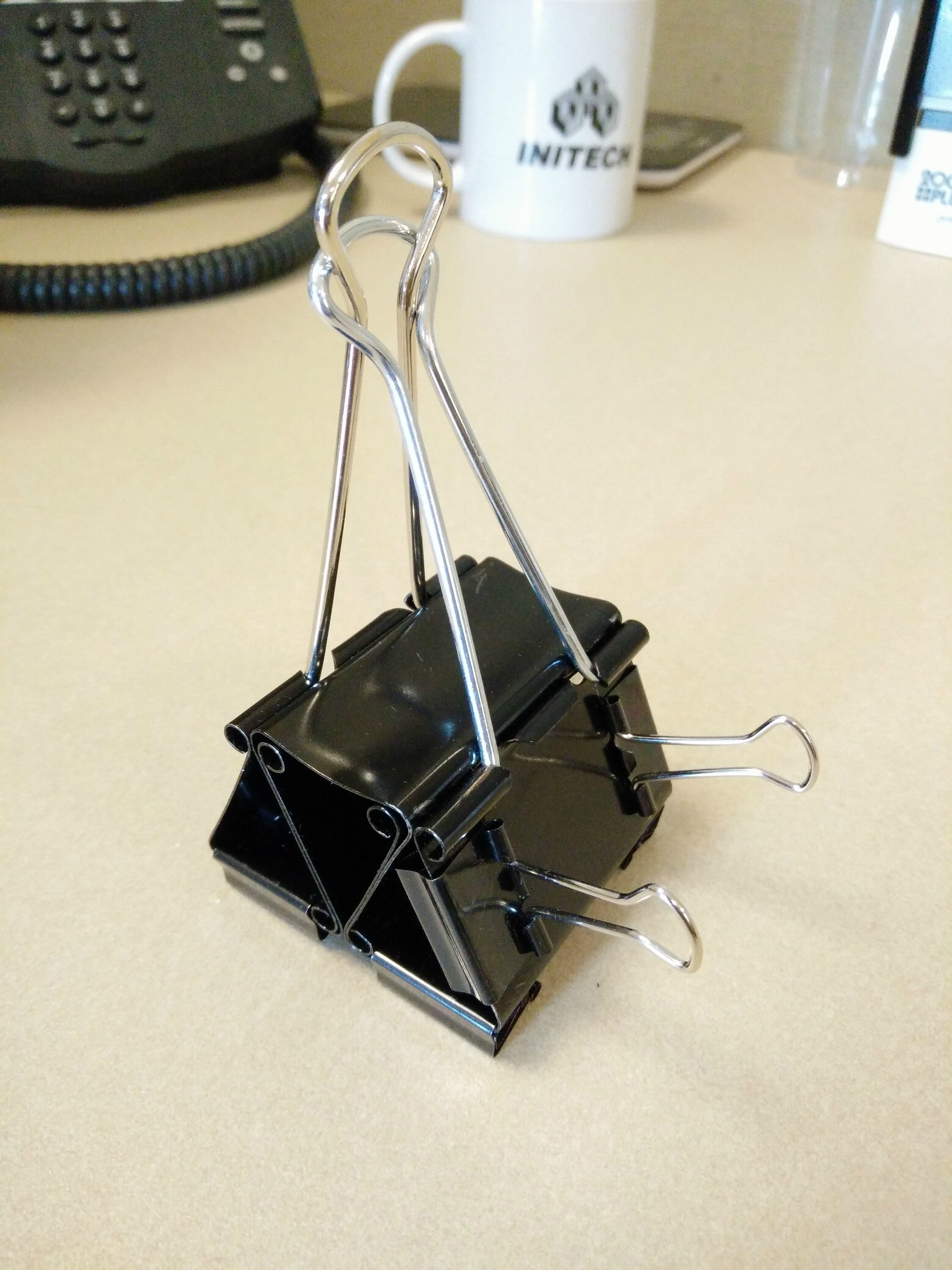 DIY   Binder Clip Cell Phone Stand (with Room For USB!)
