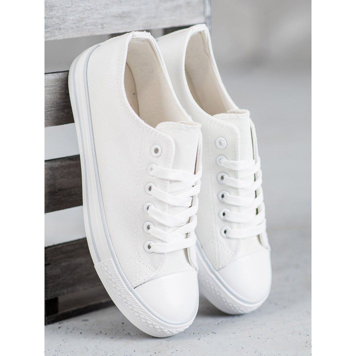 Shelovet Biale Trampki White Sneakers Sneakers Trainers Women