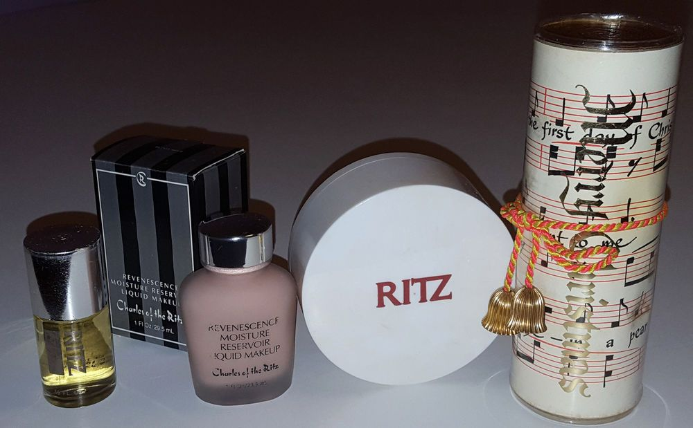 Charles Of The Ritz Vintage Perfume Powder Lotion Makeup Collection 4 Pc Lot Vintage Perfume Perfume Makeup Collection