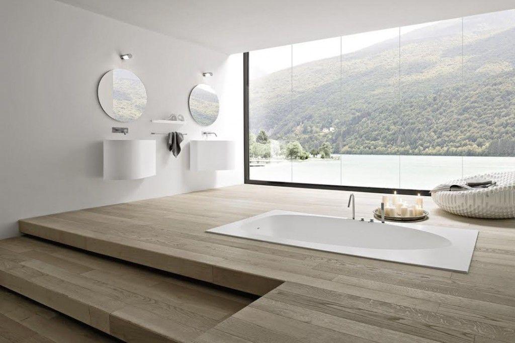 Interieur Natuur Badkamer : Badkamer midden in de natuur bad verwerkt in verhoogde vloer u c
