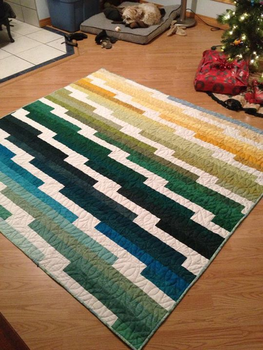 Sandra Deuchar's Bright Ideas Quilt. She added length to the ... : quilt color ideas - Adamdwight.com