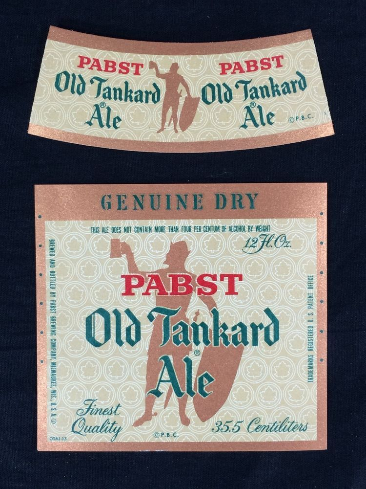Pabst Blue Ribbon Beer Label Vintage 1980/'s New Old Stock PBR