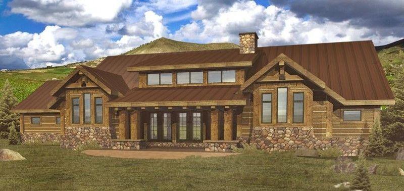 Single Level Log Home Log Home Floor Plans Log Homes Building Design