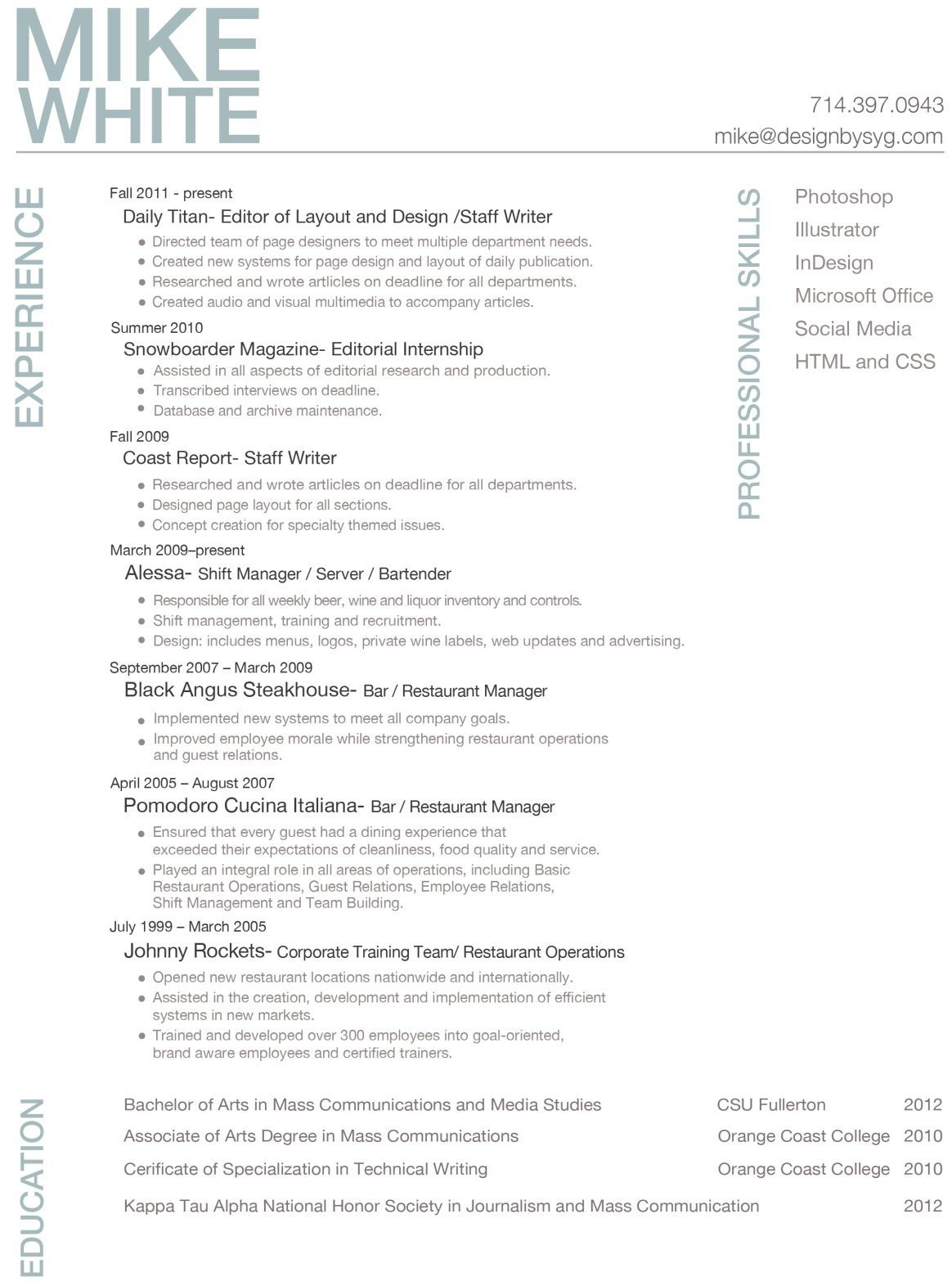 Resume Examples Young Professionals Examples Professionals Resume