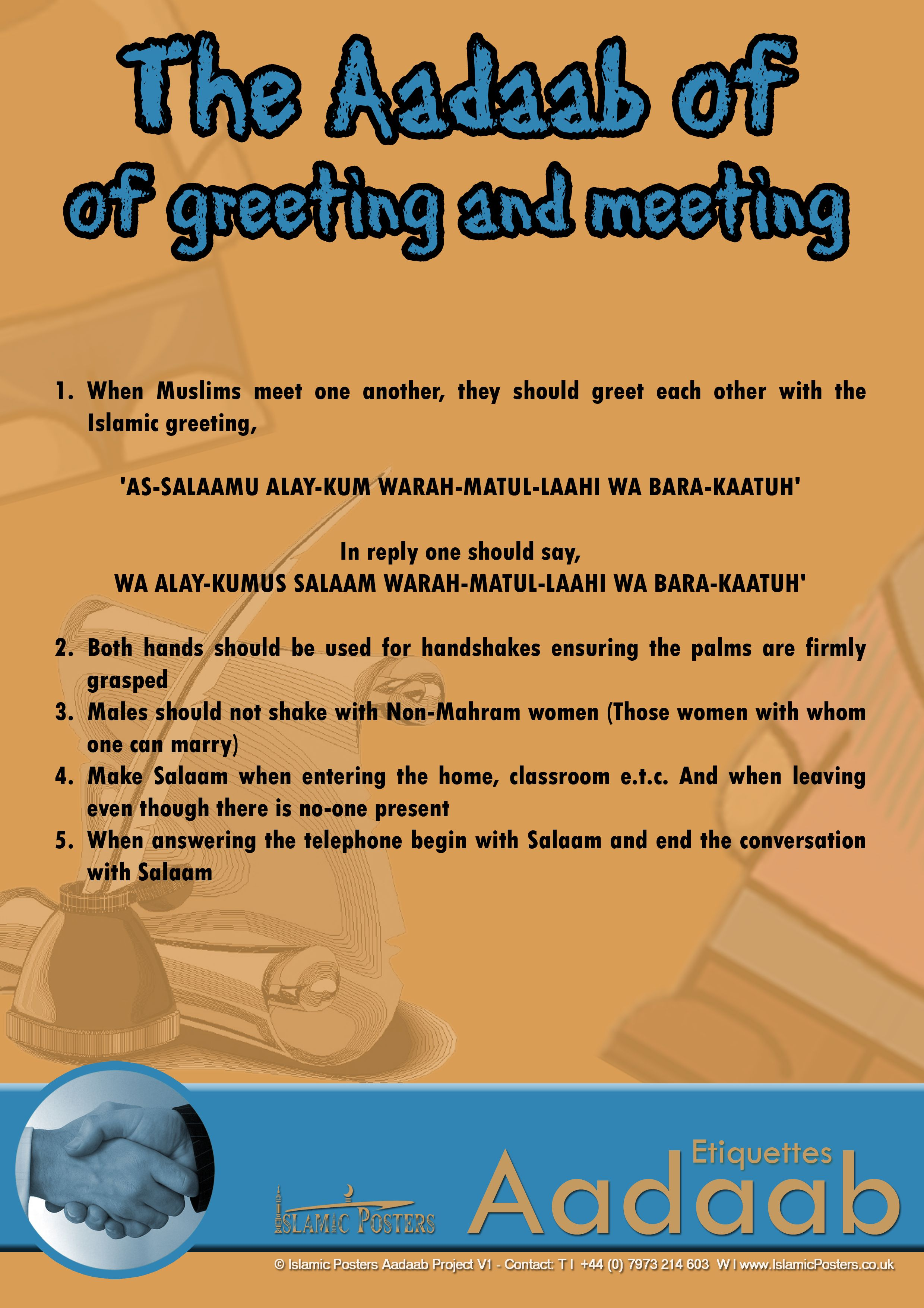 The Aadaab Of Greeting And Meeting Islamic Manners
