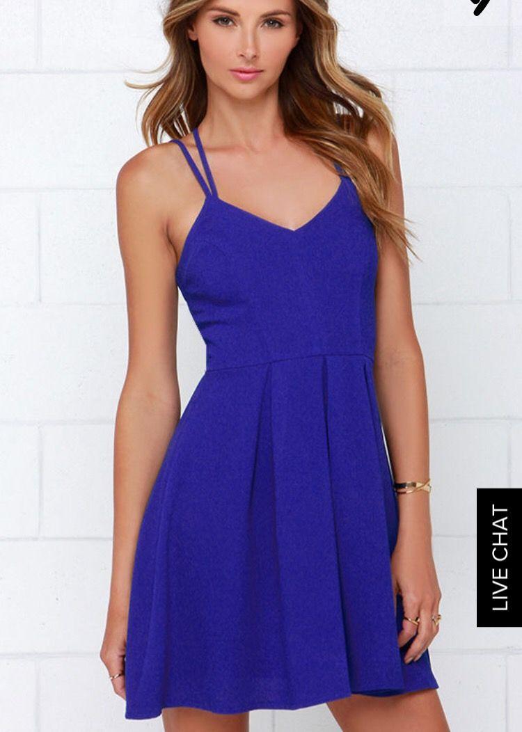 To The Rescue Royal Blue Dress - LuLu\'s $44 | Cena de velas ...