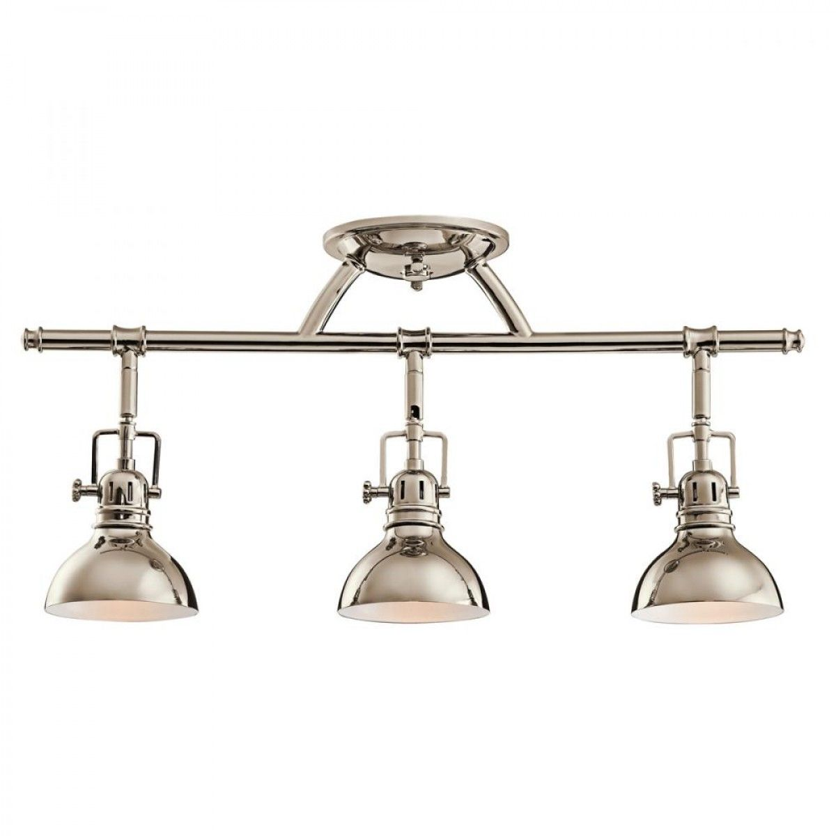 Three light polished nickel directional flush mount track fixtures three light polished nickel directional flush mount track fixtures track lighting ceiling lights mozeypictures Image collections