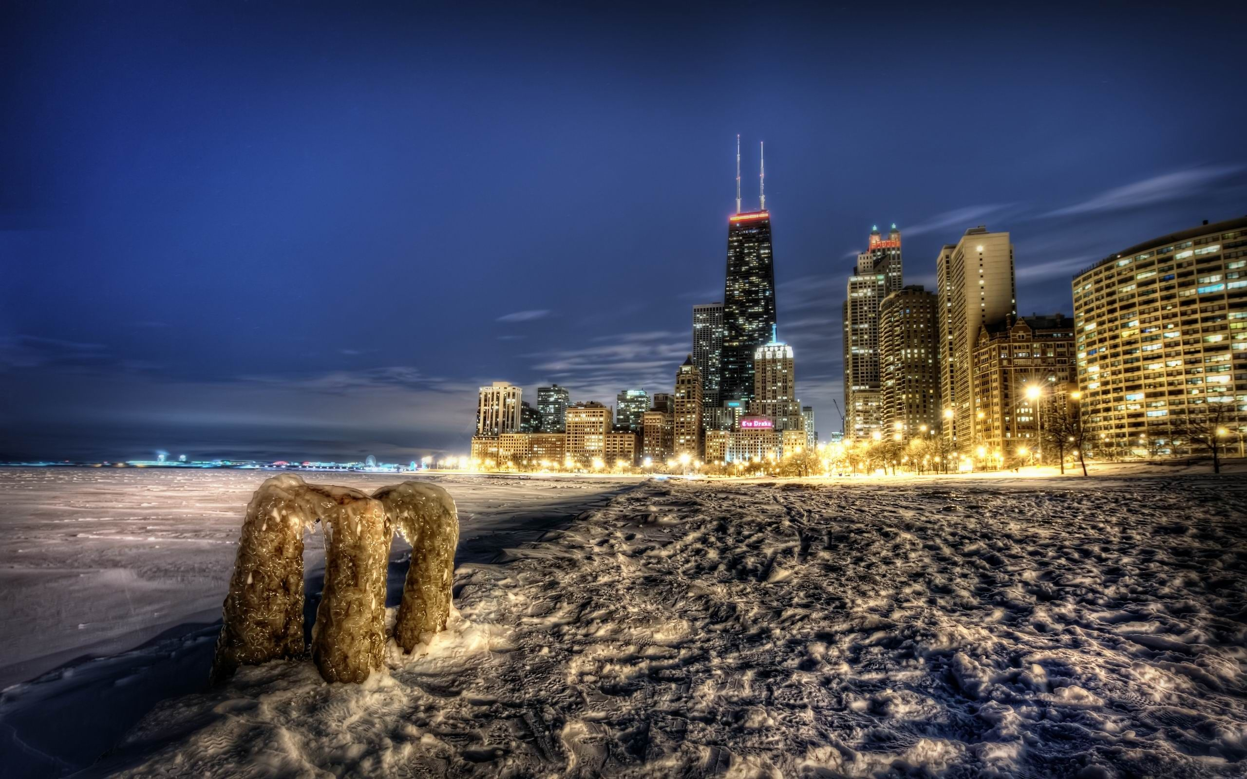 Chicago Skyline iPhone Wallpaper iPod Wallpaper HD Free