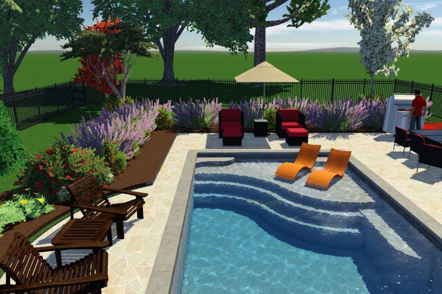 Aspen 16′ x 40′ Thursday Pools Small pools backyard