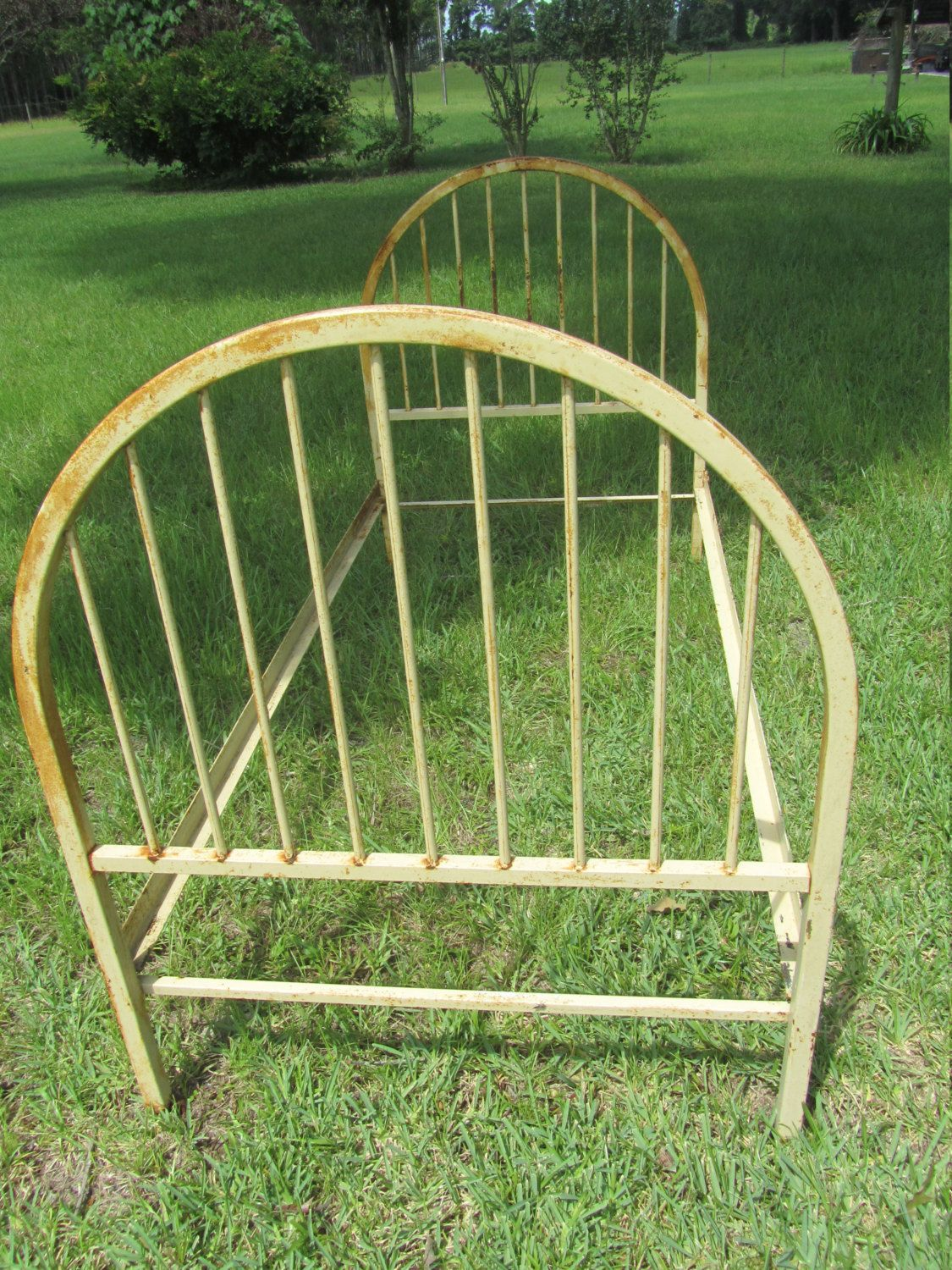 Antique bed,iron bed,hospital bed,headboard,farmhouse