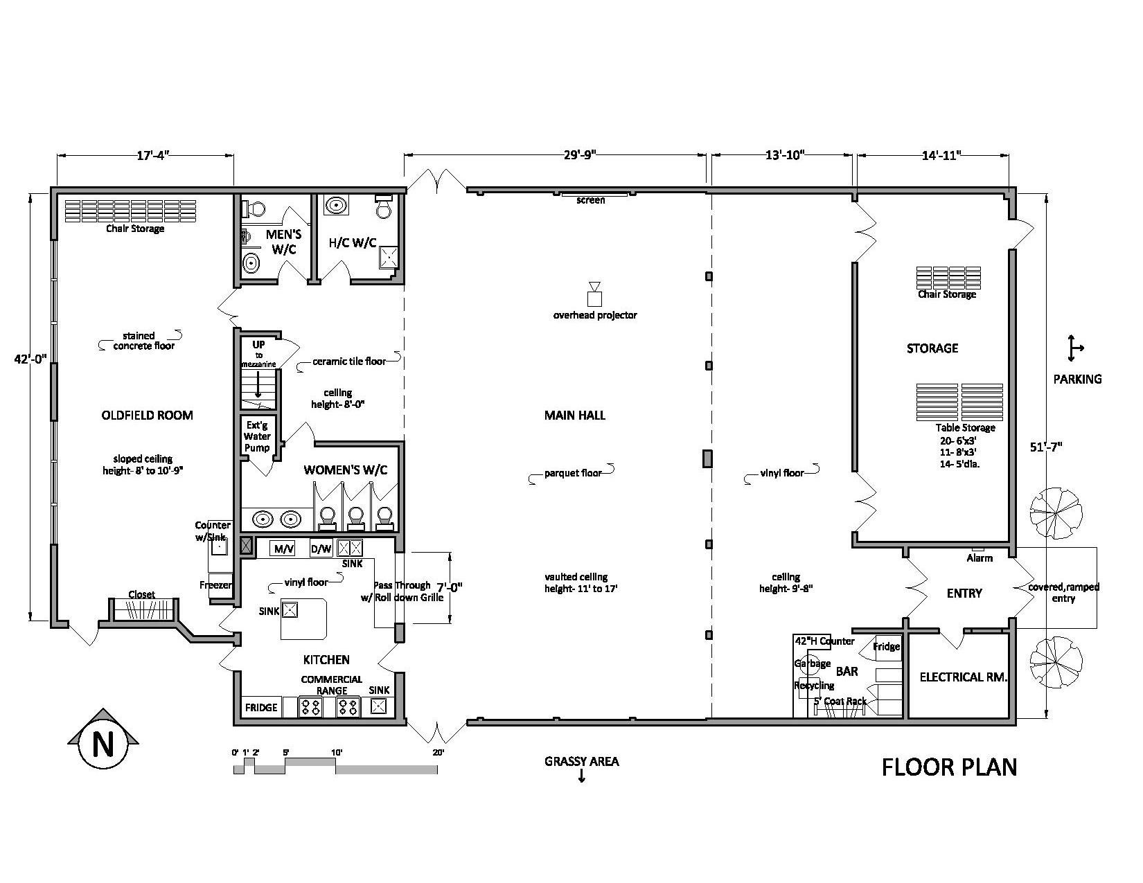 Prospect lake hall floor plan page 1650 1275 for Wedding floor plan
