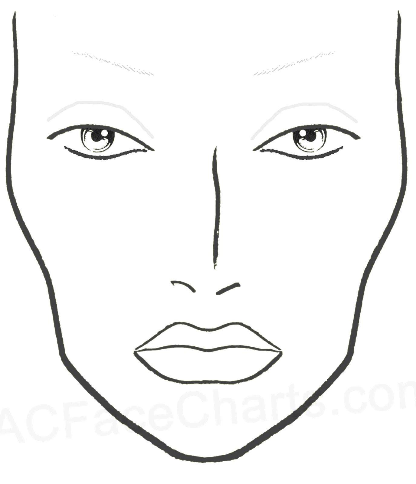 Resultado De Imagem Para Desenho De Face Chart Para Imprimir