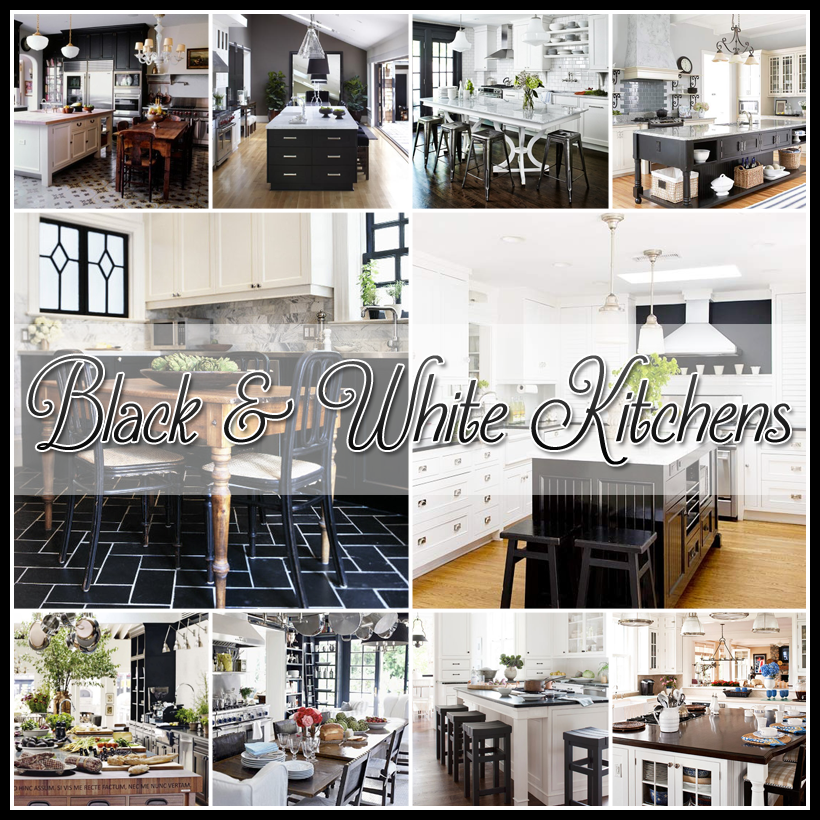 25 Beautiful Black and White Kitchens...filled with inspiration!