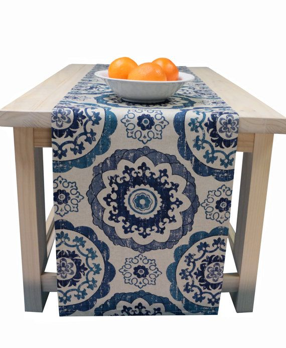 Table Runner Blue 72 Inch, 90 Inch, 96 Inch, 108 Inch, 120 Inch Blue Teal Table  Runner    I Just Ordered This On Etsy! Itu0027s Going To Look Wonderful In My  ...