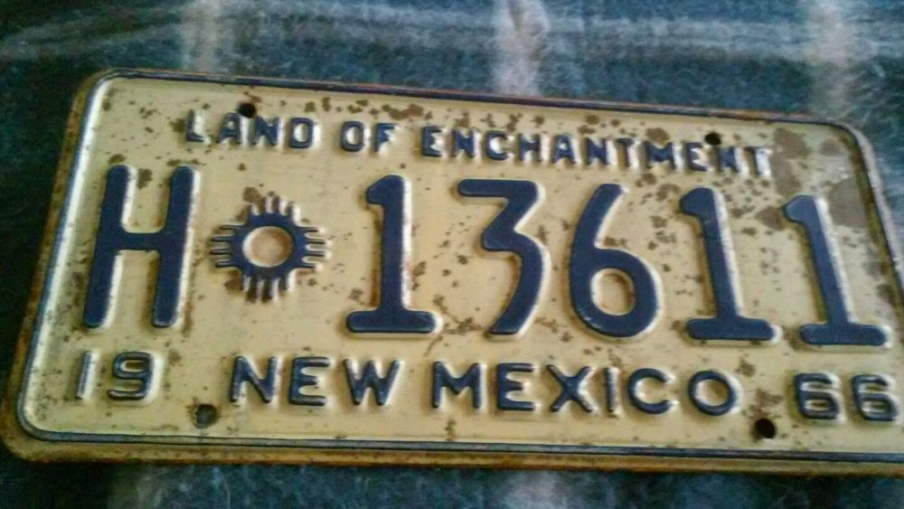 Man Cave New Mexico : New mexico license plate man cave vintage antique tag