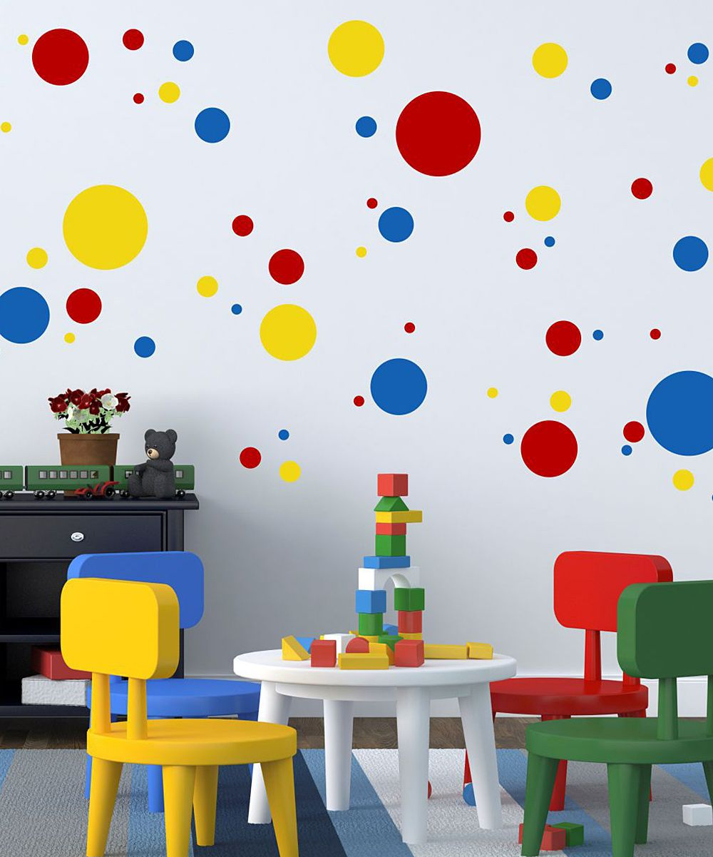 Colors For Kids Room: Primary Colors Dot & Spots Wall Quotes™ Decals