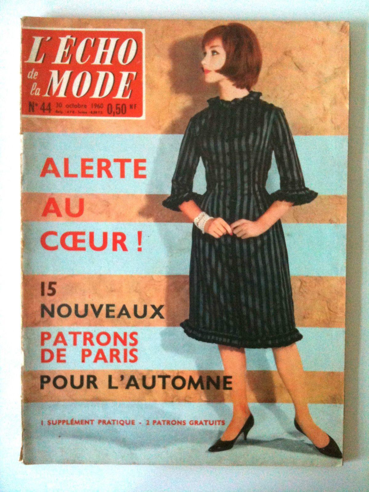 L Echo DE LA Mode N° 44 Année 1960 Mode Patron Cuisine Ouvrage   eBay 6947ee41a02