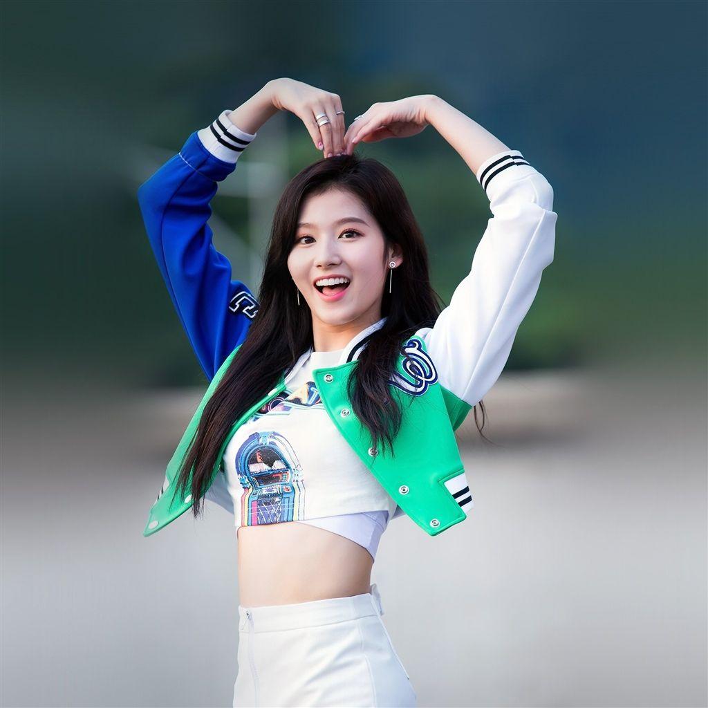 Kpop Sana Heart Love Cute Girl Celebrity Retina Ipad Air