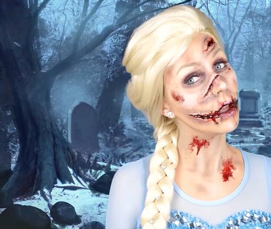 Zombie Elsa Halloween Halloween Makeup Creepy Halloween Makeup