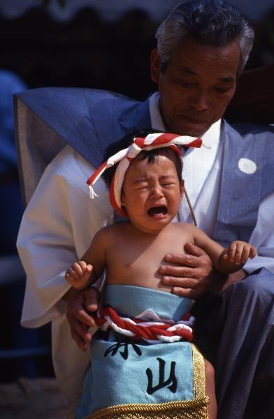 Baby sumo wrestler, Japan