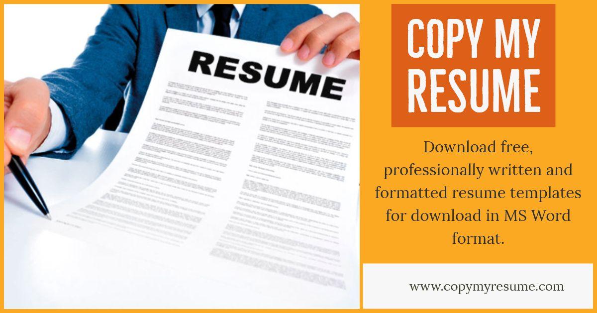 Copy my resume good resume examples resume free resume