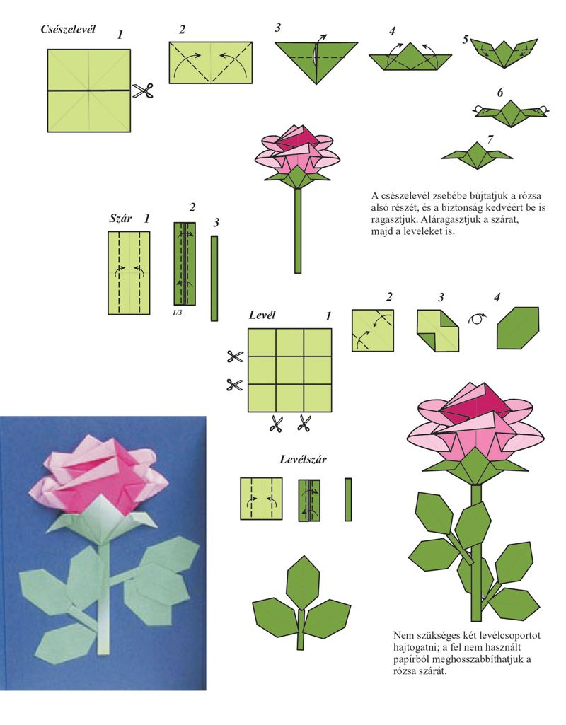 Origami Charming Origami Rose Instructions Easy Origami Rose