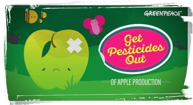 Greenpeace encuentra un cóctel químico en manzanas de producción convencional