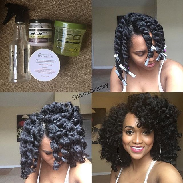 hair styles with a braid twist out with perm rods products used water 8738