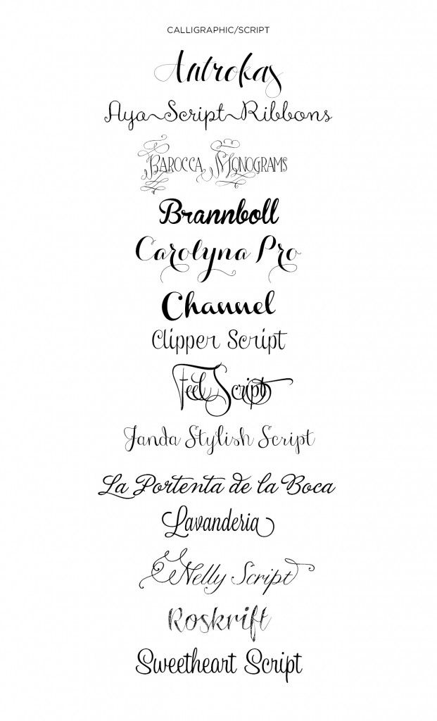Script & Calligraphy Fonts | Office | Pinterest | Calligraphy ...