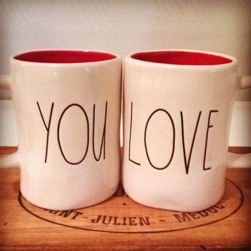 LOVE YOU RAE DUNN Coffee Tea Mugs Valentines Day EBay