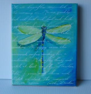 "Dragonfly ​Canvas Wall Art Vintage style print, 8x10""  Handmade with love by local vendors http://www.shopserendipitystyles.com/store/c1/Featured_Products.html#TheSassyWay"