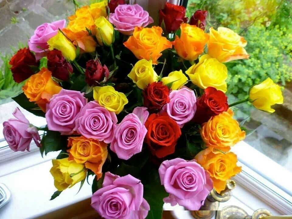 Multicolored Bunch Of Roses