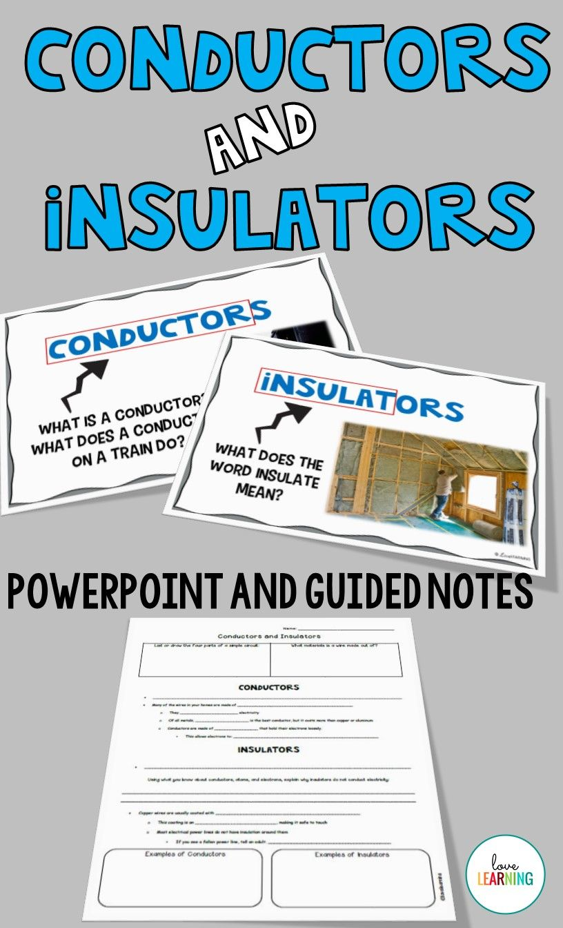 Worksheets Conductors And Insulators Worksheet conductors and insulators lesson notes lab tpt science lessons powerpoint guided this is a great addition to your electricity unit perfe