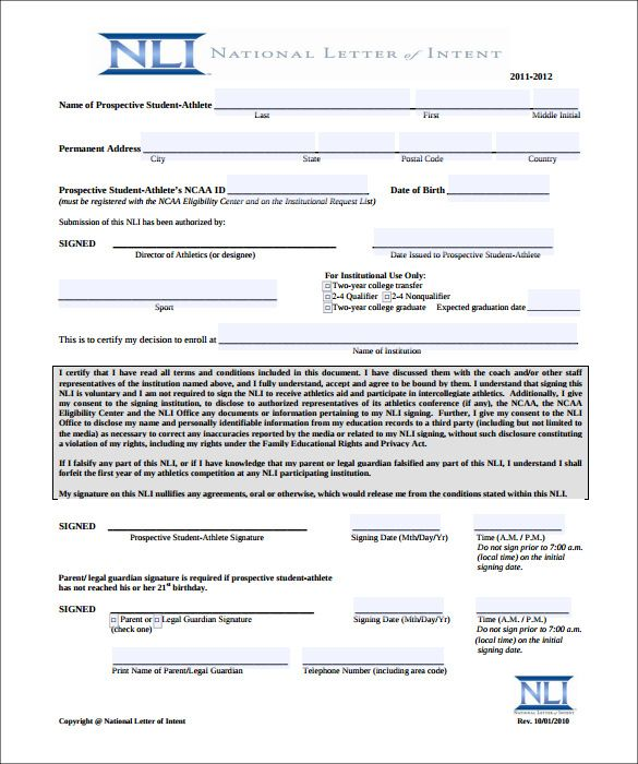 National Letter Of Intent template Pinterest Template, Pdf and
