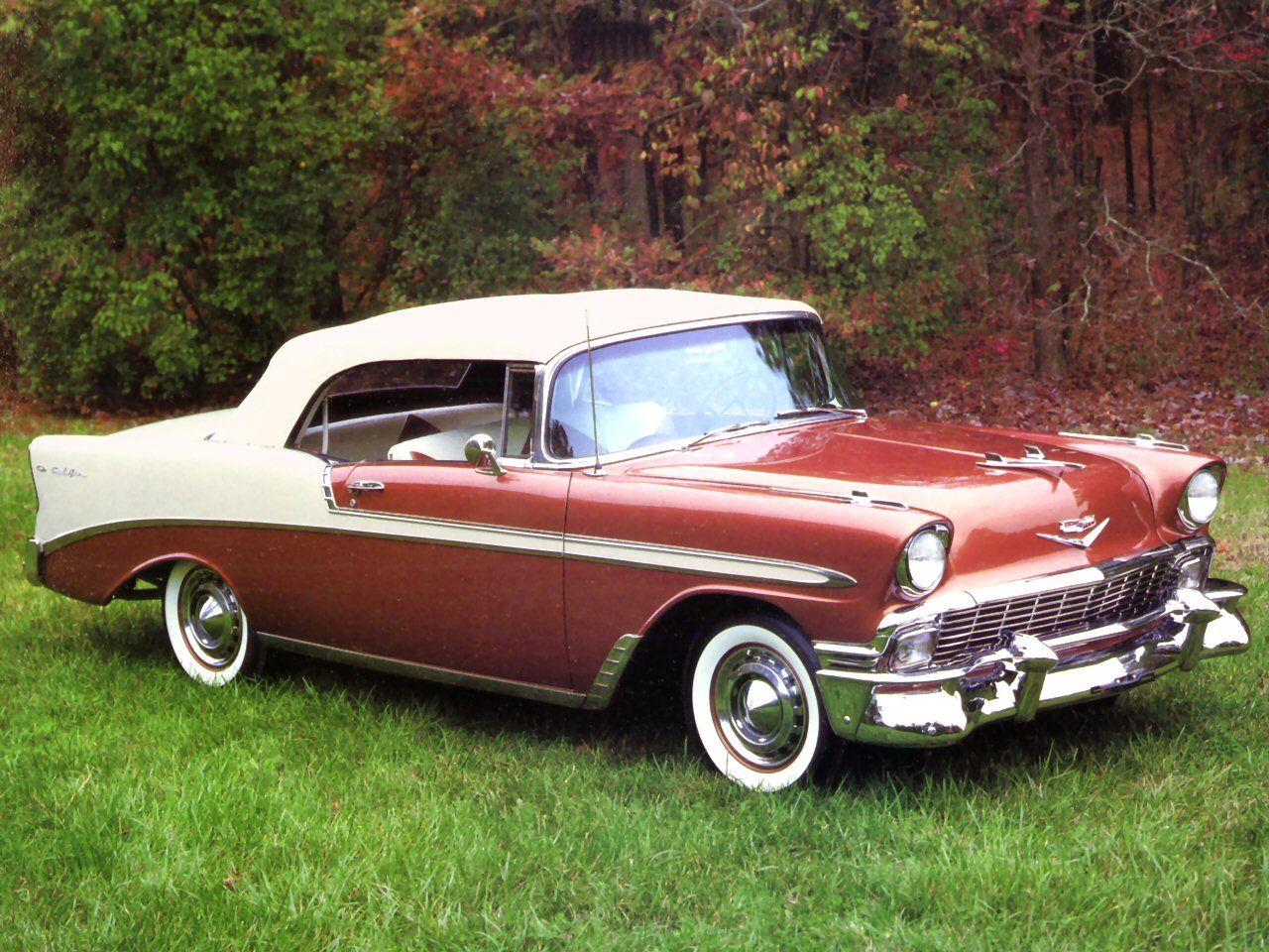 1956 Chevy Bel Air Convertible In Chocolate Yum