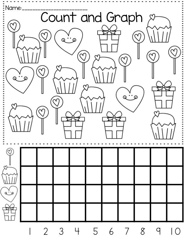 Valentines Day Counting Hearts to 50 Number Writing – Valentine Worksheets for Kindergarten