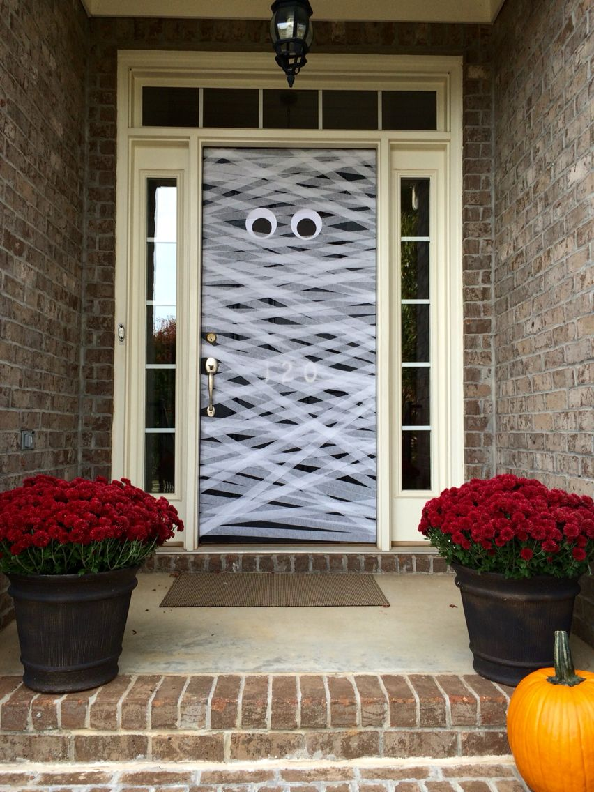 Halloween front door decoration holidays  gift ideas Pinterest - Halloween Door Decoration Ideas
