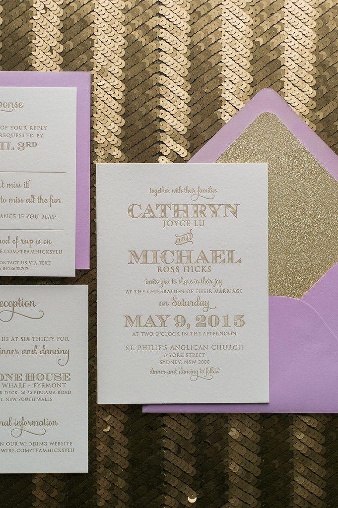 KRISTIN Suite // STYLED // Glitter Package | Modern letterpress ...