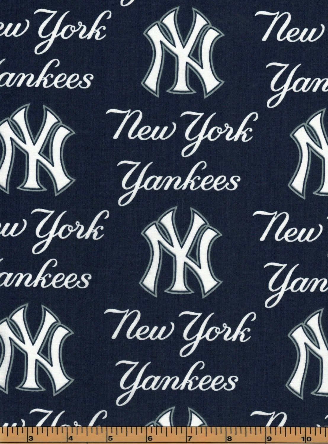 New York Yankees Baseball Fabric Mlb 100 Cotton By Fabric Etsy Baseball Fabric New York Yankees Fabric Letters
