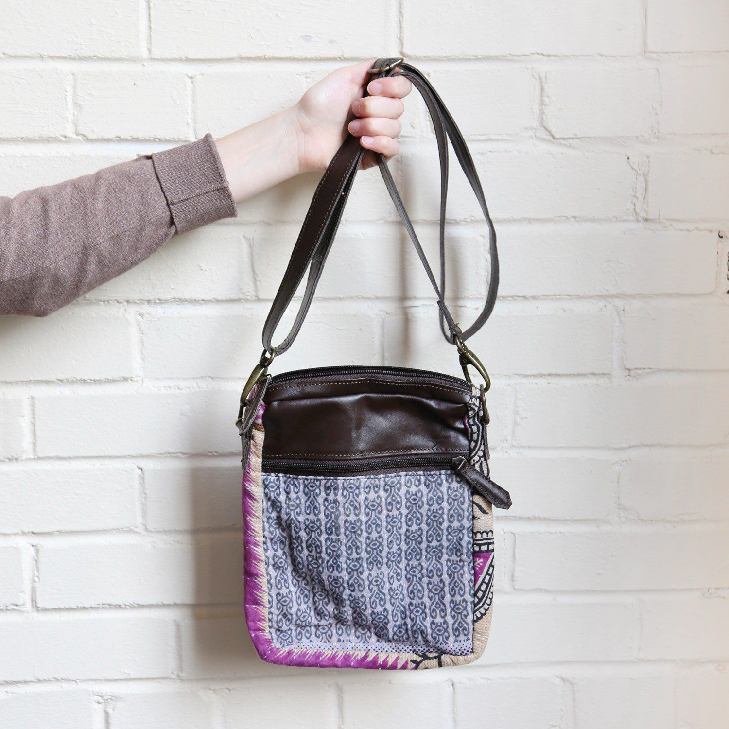 e8d15bd384a6 Recycled Sari Fabric    Purse    Handmade Slow Fashion    Sustainable Style     Eco-Friendly    Fair Trade    Ethical