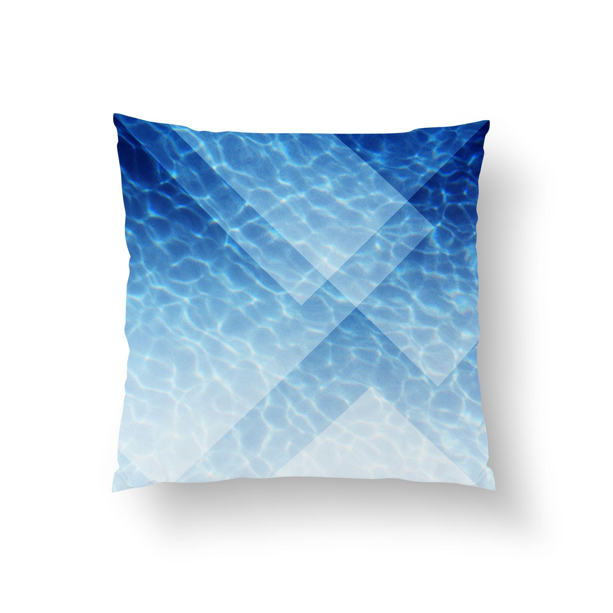 Blue diamond steppe throw pillow surf decor throw pillows and