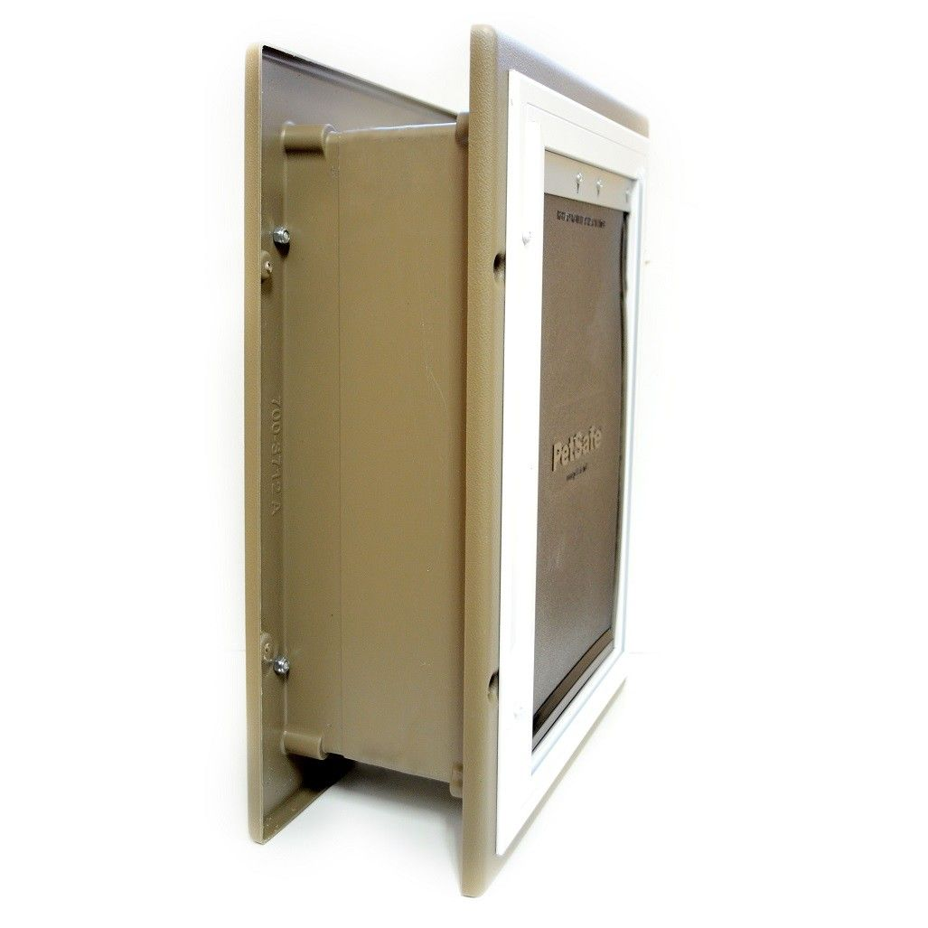 Petsafe wall entry pet door remodel cat enclosure pet - Interior door with pet door installed ...